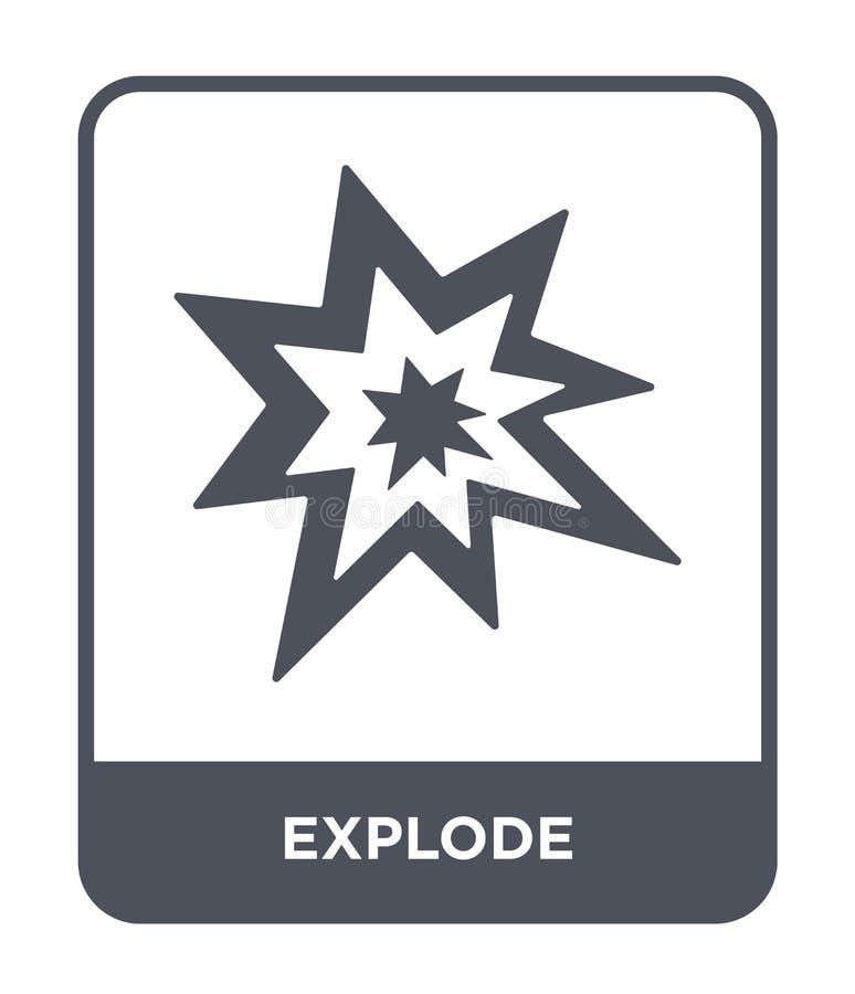 estalle el icono en estilo de moda del diseño estalle el icono aislado en el fondo blanco estalle el símbolo plano simple y moder stock de ilustración