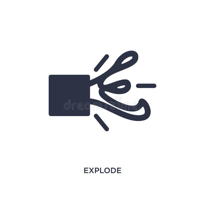 estalle el icono en el fondo blanco Ejemplo simple del elemento del concepto de la geometría ilustración del vector