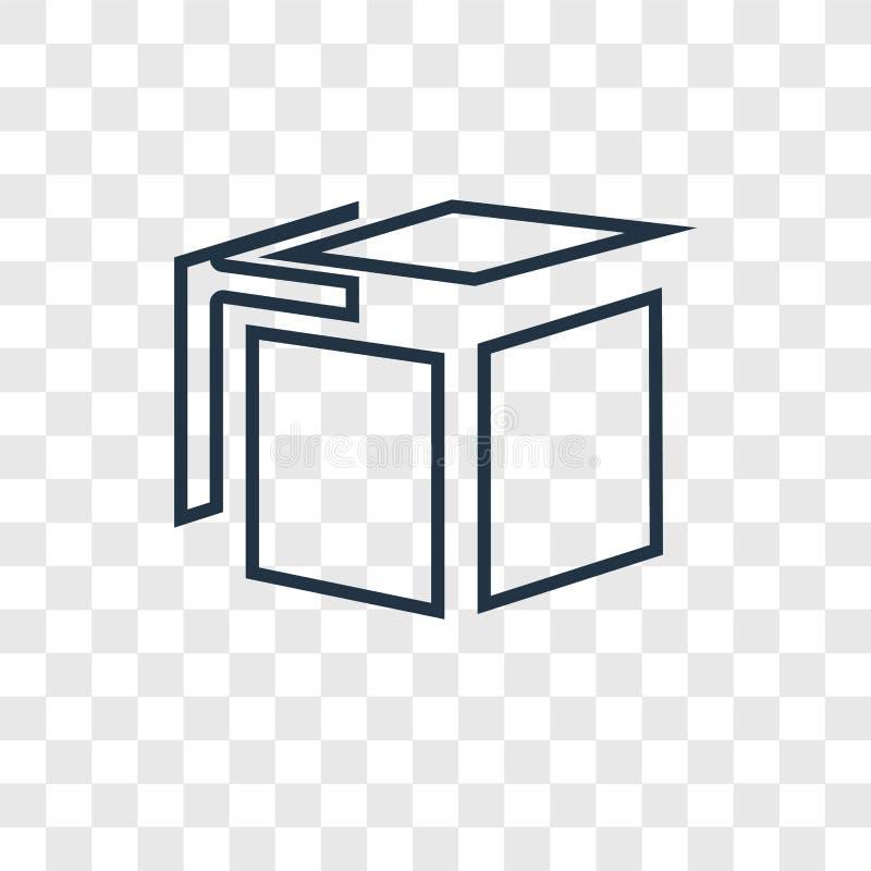 Estalle el icono linear del vector del concepto aislado en backg transparente ilustración del vector