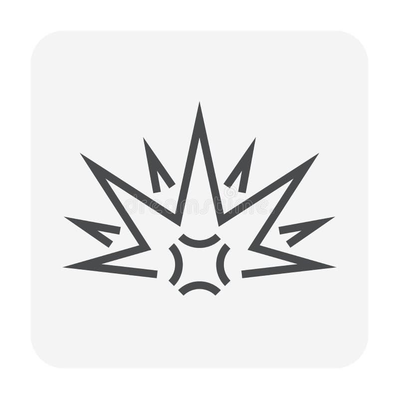 Estalle el negro del icono ilustración del vector