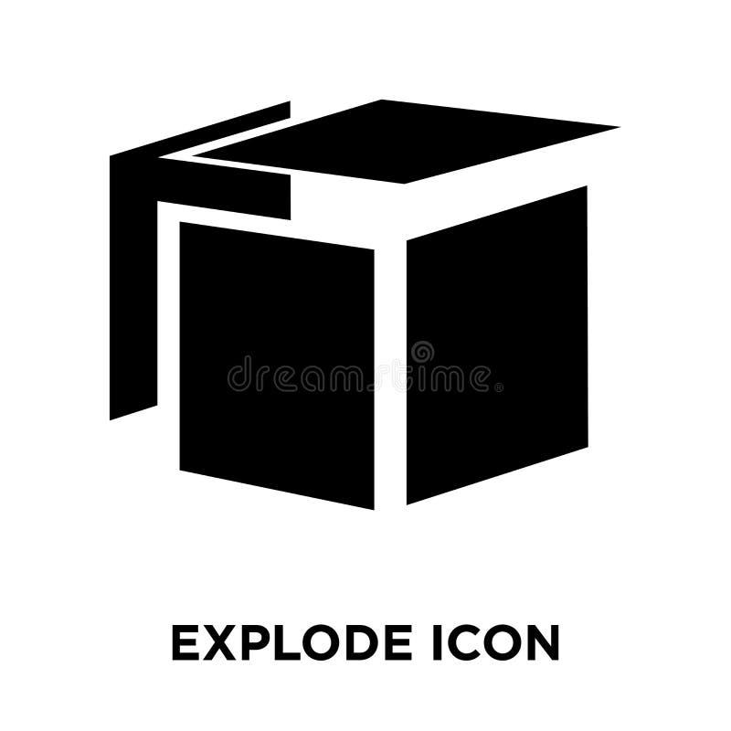 Estalle el vector del icono aislado en el fondo blanco, concepto o del logotipo libre illustration