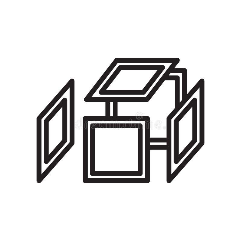 Estalle la muestra y el símbolo del vector del icono aislados en el fondo blanco ilustración del vector