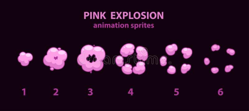 Estalle los sprites de la animación del efecto stock de ilustración