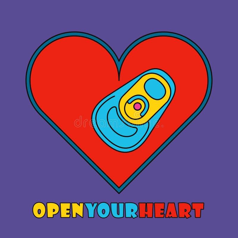 Estallido Art Style Heart Corazón del estilo del arte pop con la poder de bebida ilustración del vector