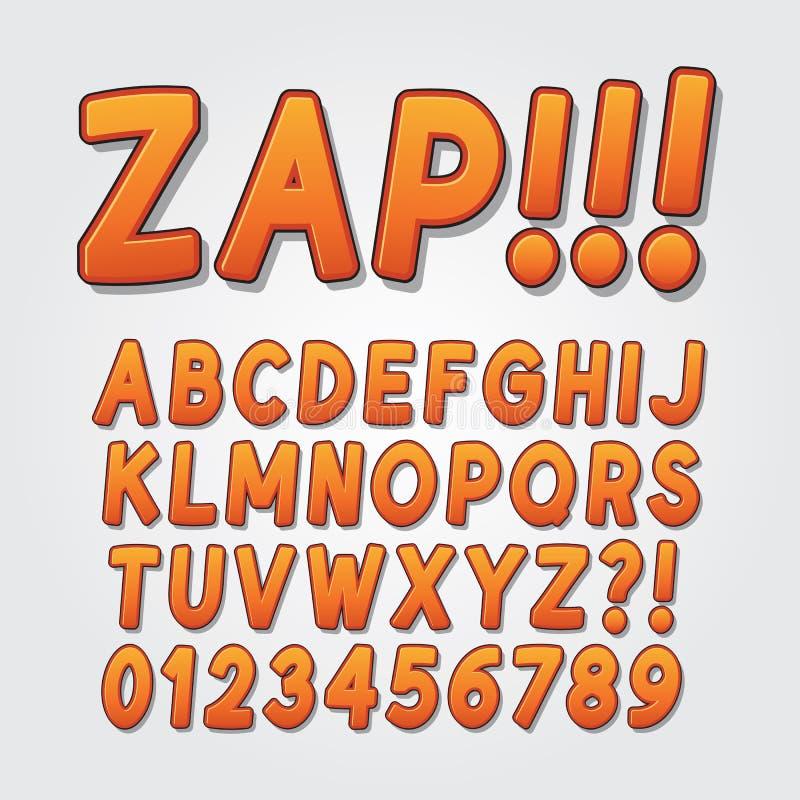Estallido cómico abstracto Art Alphabet y números imagen de archivo