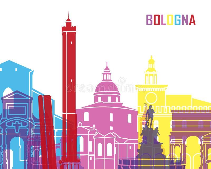 Estallido del horizonte de Bolonia stock de ilustración