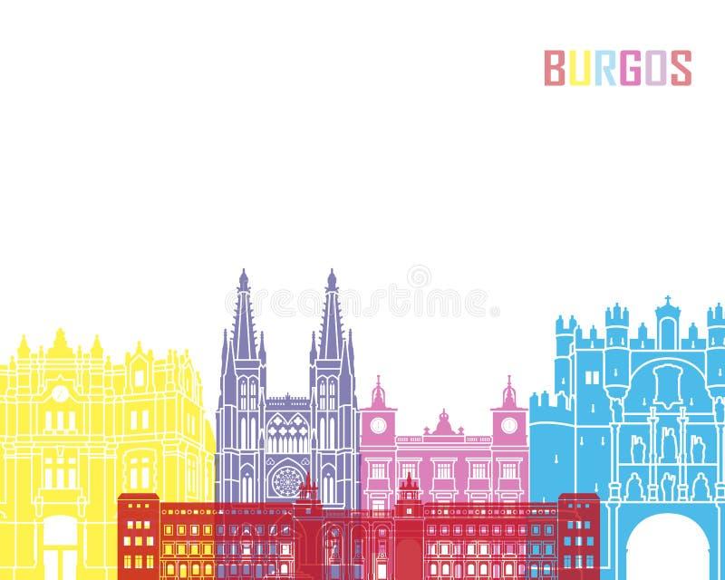 Estallido del horizonte de Burgos ilustración del vector