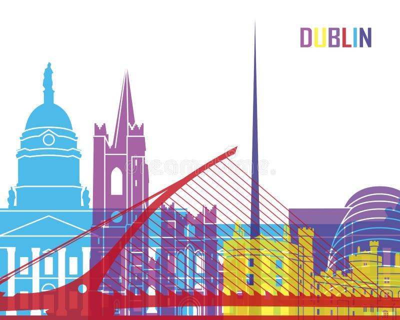 Estallido del horizonte de Dublín stock de ilustración
