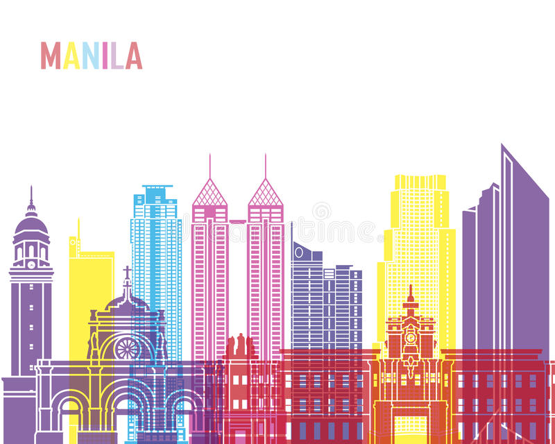 Estallido del horizonte de Manila libre illustration