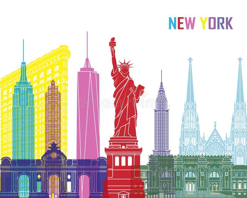 Estallido del horizonte de Nueva York ilustración del vector