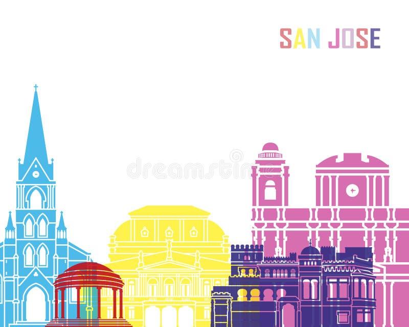 Estallido del horizonte de San Jose ilustración del vector