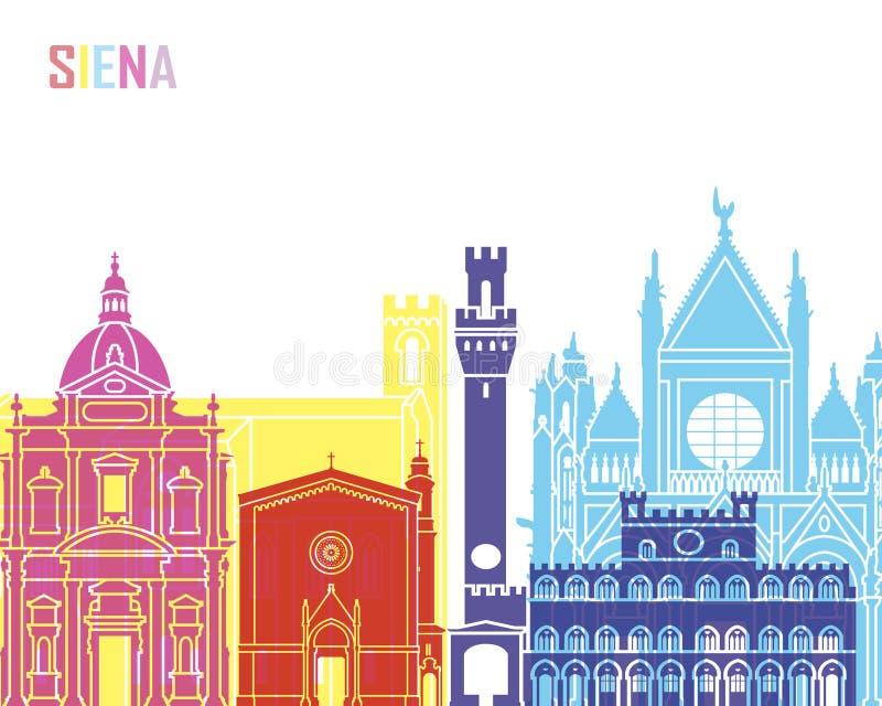 Estallido del horizonte de Siena ilustración del vector