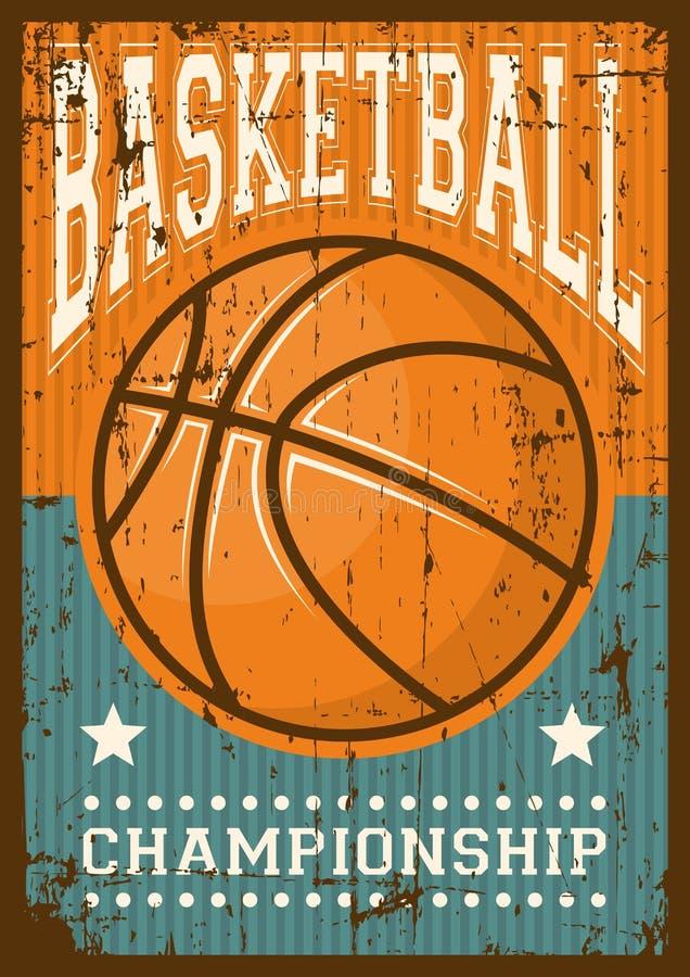 Estallido retro Art Poster Signage del deporte del baloncesto libre illustration