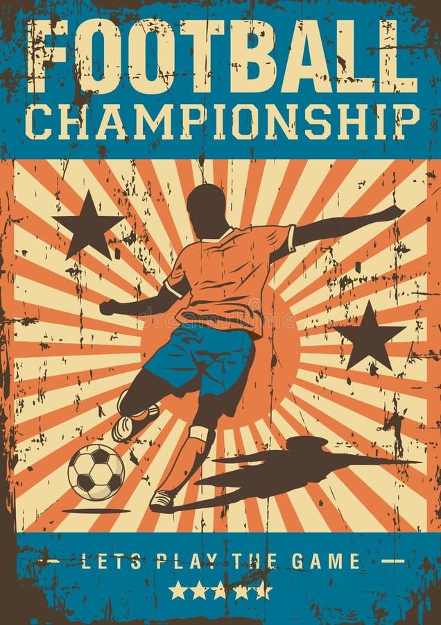 Estallido retro Art Poster Signage del deporte del fútbol del fútbol libre illustration