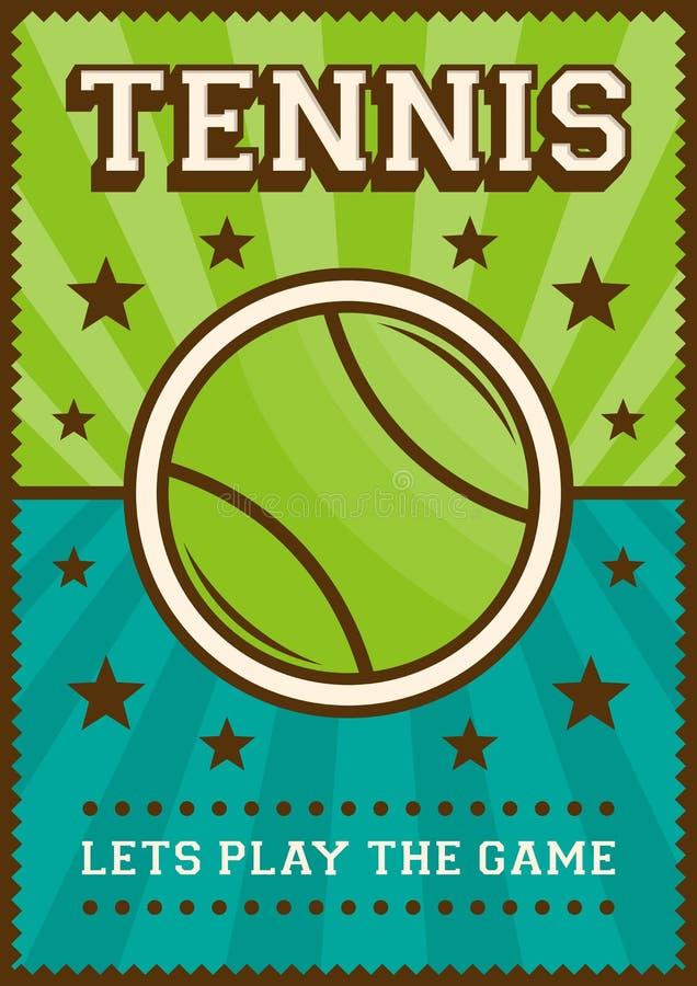 Estallido retro Art Poster Signage del deporte del tenis libre illustration