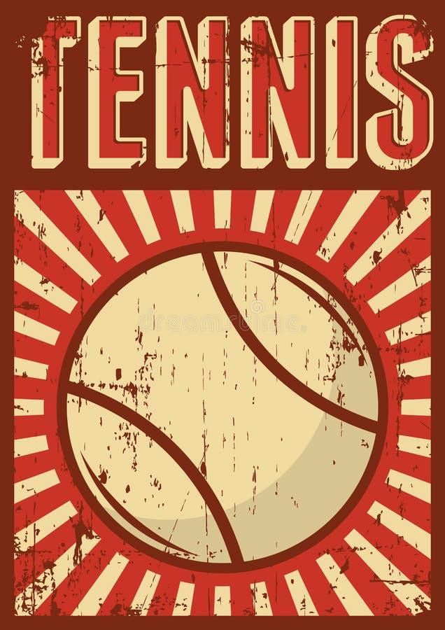 Estallido retro Art Poster Signage del deporte del voleibol de la bola del voleo ilustración del vector