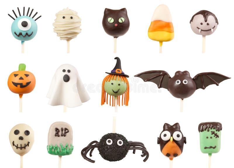 Estallidos de la torta de Halloween foto de archivo libre de regalías
