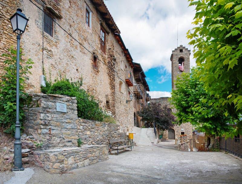 Estamariu στο comarca του ALT Urgell, Ισπανία στοκ εικόνες