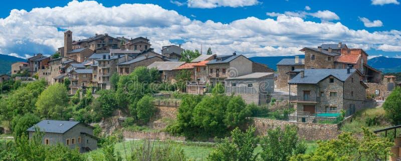 Estamariu, comarca του ALT Urgell, Lleida, Καταλωνία, Ισπανία στοκ εικόνα με δικαίωμα ελεύθερης χρήσης