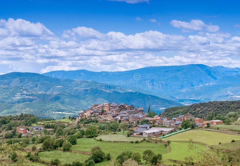 Estamariu, comarca του ALT Urgell, Lleida, Καταλωνία, Ισπανία στοκ εικόνες