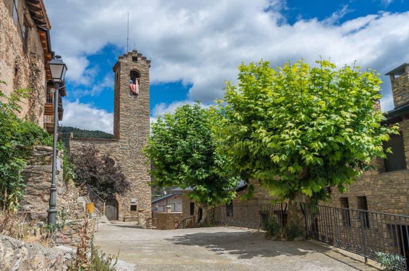 Estamariu, comarca του ALT Urgell, Lleida, Καταλωνία, Ισπανία στοκ εικόνες με δικαίωμα ελεύθερης χρήσης