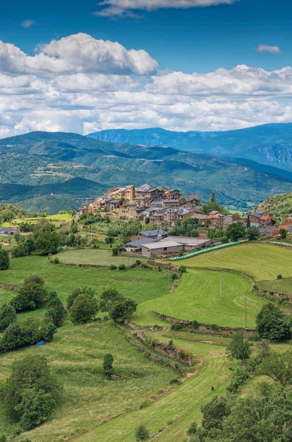 Estamariu, comarca του ALT Urgell, Lleida, Καταλωνία, Ισπανία στοκ φωτογραφία με δικαίωμα ελεύθερης χρήσης