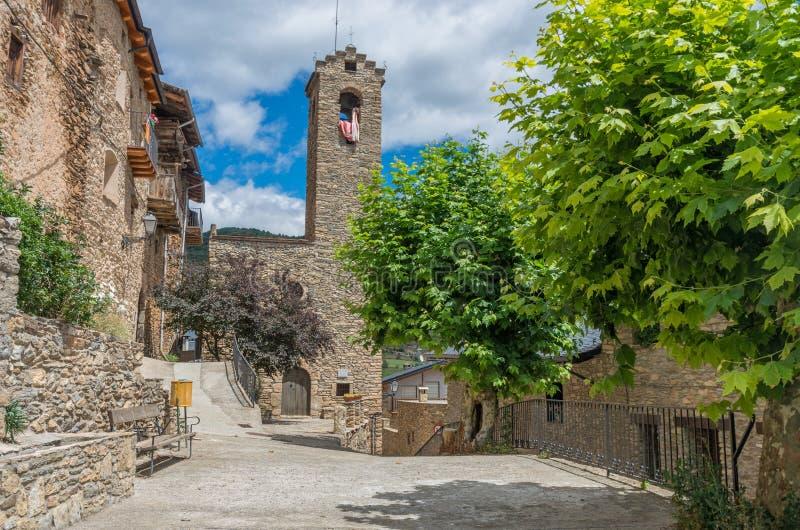Estamariu, comarca του ALT Urgell, Lleida, Καταλωνία, Ισπανία στοκ φωτογραφία