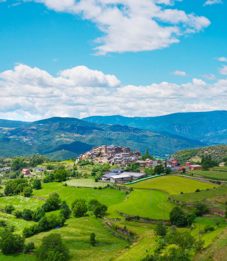 Estamariu in comarca of Alt Urgell, Catalonia, Spain. stock photo