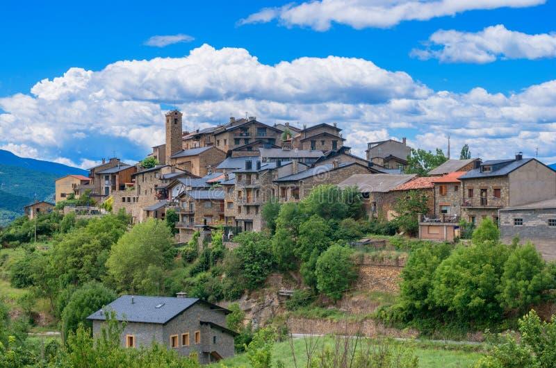 Estamariu, comarca von Alt Urgell, Lleida, Katalonien, Spanien lizenzfreie stockfotos