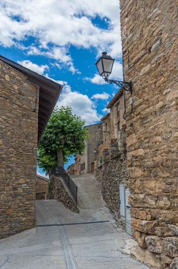 Estamariu, comarca of Alt Urgell, Lleida, Catalonia, Spain. royalty free stock photography