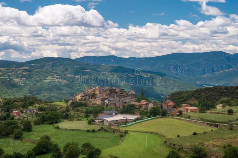 Estamariu, comarca of Alt Urgell, Lleida, Catalonia, Spain. Estamariu is a municipality in the comarca of Alt Urgell, Lleida, Catalonia, Spain royalty free stock image