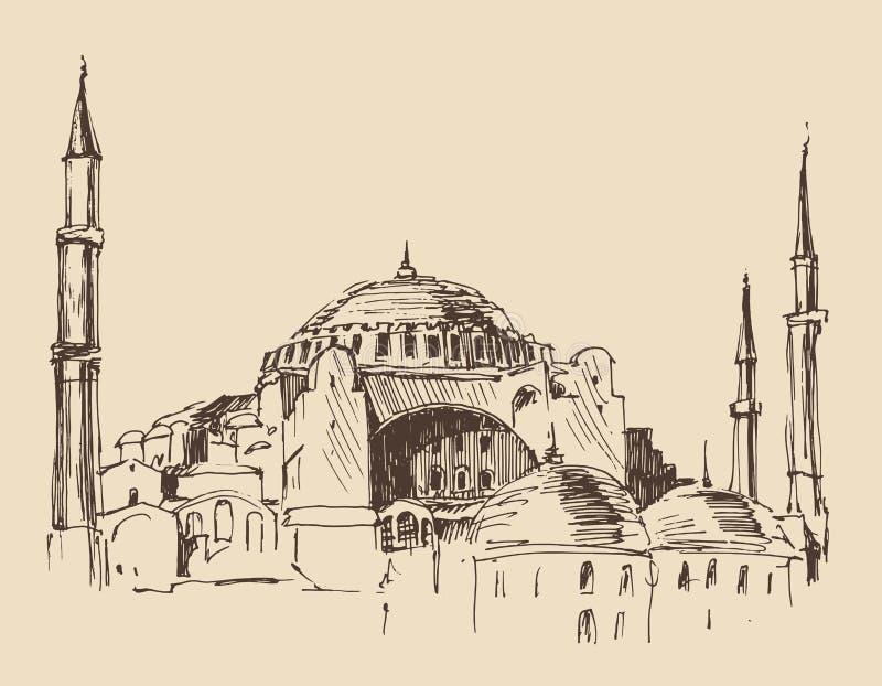 Estambul, Turquía, arquitectura de la ciudad stock de ilustración