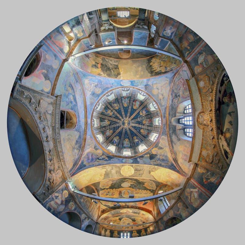 ESTAMBUL, TURQUÍA - 25 DE MARZO DE 2012: Fresco en la iglesia de Cristo el salvador foto de archivo