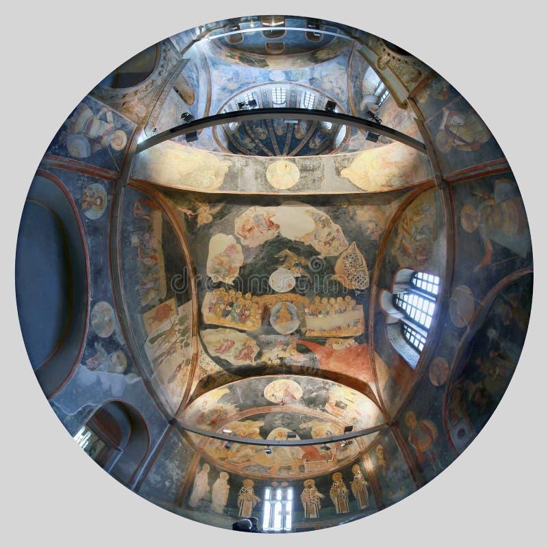 ESTAMBUL, TURQUÍA - 25 DE MARZO DE 2012: Fresco en la iglesia de Cristo el salvador foto de archivo libre de regalías