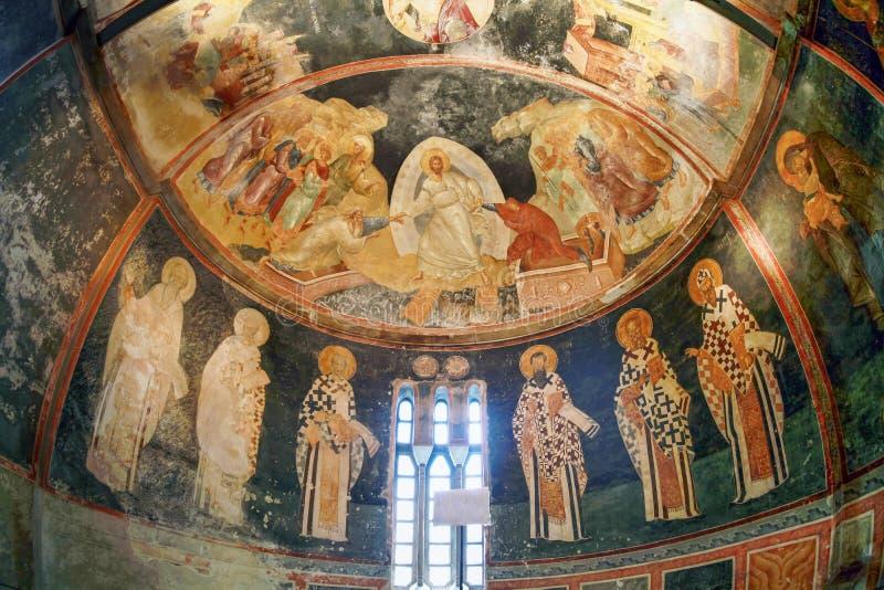 ESTAMBUL, TURQUÍA - 25 DE MARZO DE 2012: Fresco en la iglesia de Cristo el salvador imagenes de archivo