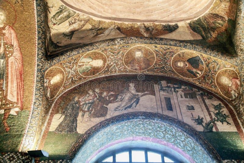 ESTAMBUL, TURQUÍA - 25 DE MARZO DE 2012: Mosaico en la iglesia de Cristo el salvador imagen de archivo libre de regalías