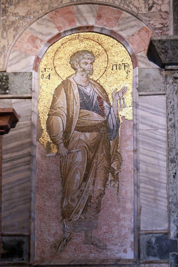 ESTAMBUL, TURQUÍA - 25 DE MARZO DE 2012: Mosaico en la iglesia de Cristo el salvador imagen de archivo