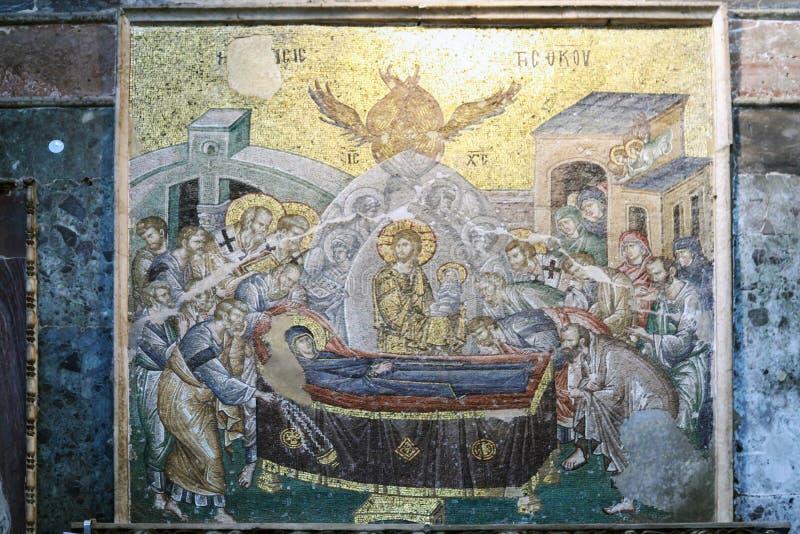 ESTAMBUL, TURQUÍA - 25 DE MARZO DE 2012: Mosaico en la iglesia de Cristo el salvador foto de archivo libre de regalías