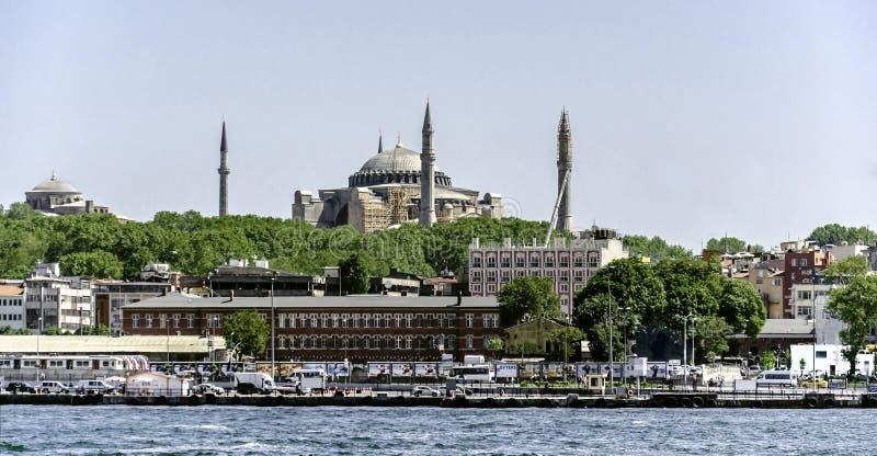 Estambul y un Hagia Sophia foto de archivo libre de regalías