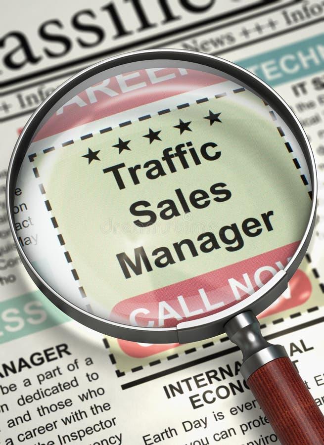 Estamos contratando al encargado de ventas del tráfico 3d stock de ilustración