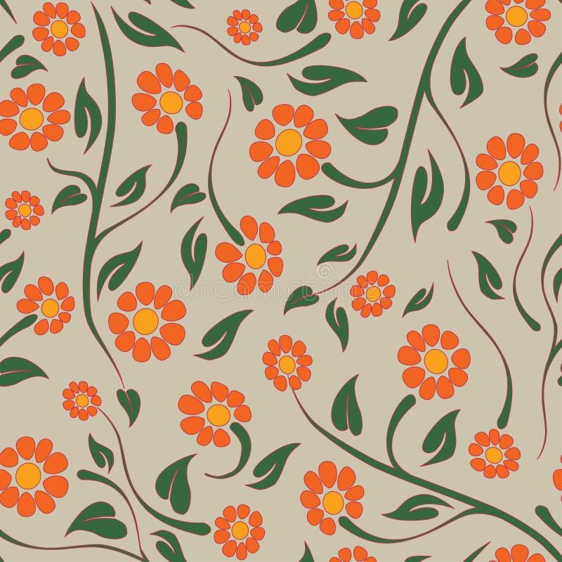 Estampado de flores stock de ilustración