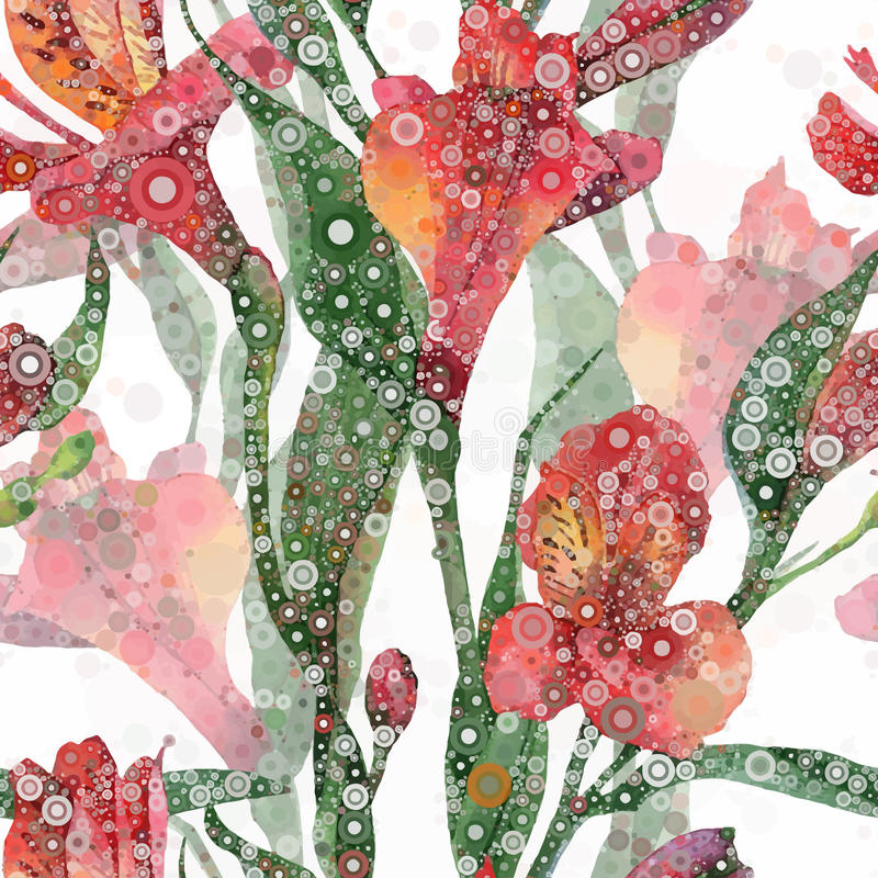 Estampado de flores abstracto ilustración del vector