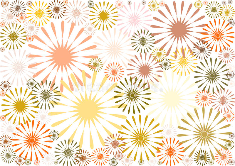 Estampado de flores abstracto en sombras del marrón ilustración del vector