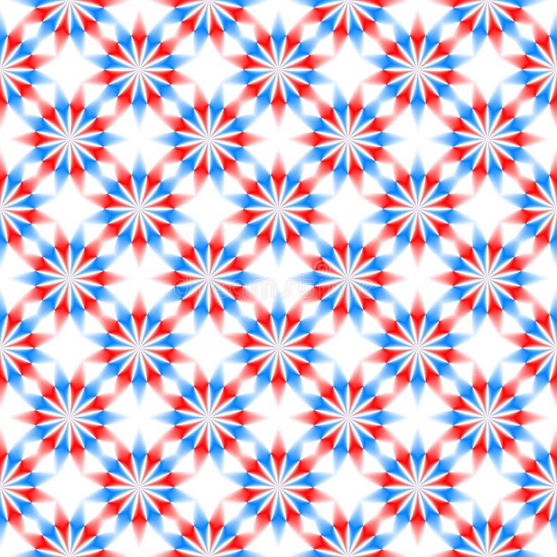 Estampado de flores azul, rojo y blanco abstracto Fondo simple de la textura Vector inconsútil ilustración del vector