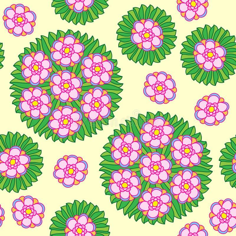 Estampado de flores circular inconsútil libre illustration