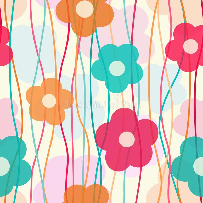 Estampado de flores colorido ilustración del vector