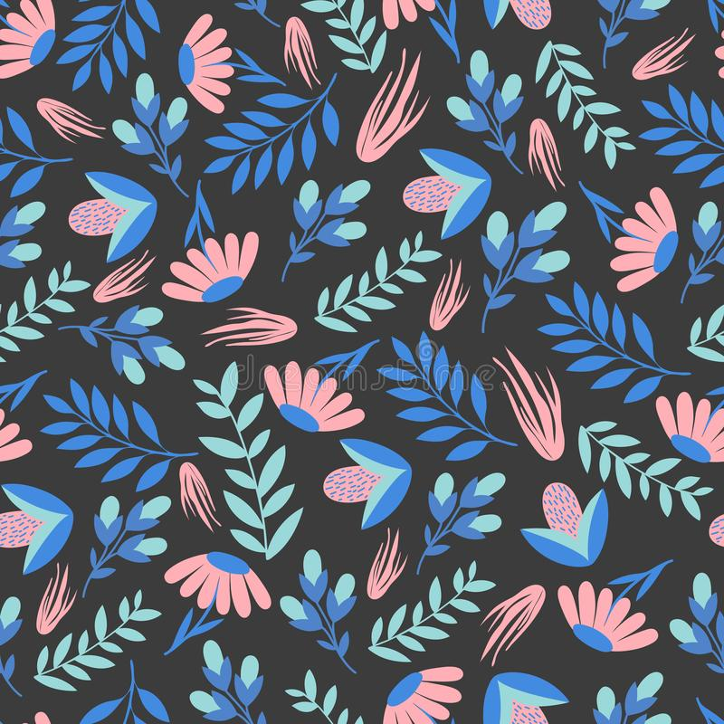 Estampado de flores colorido inconsútil Papel de embalaje libre illustration