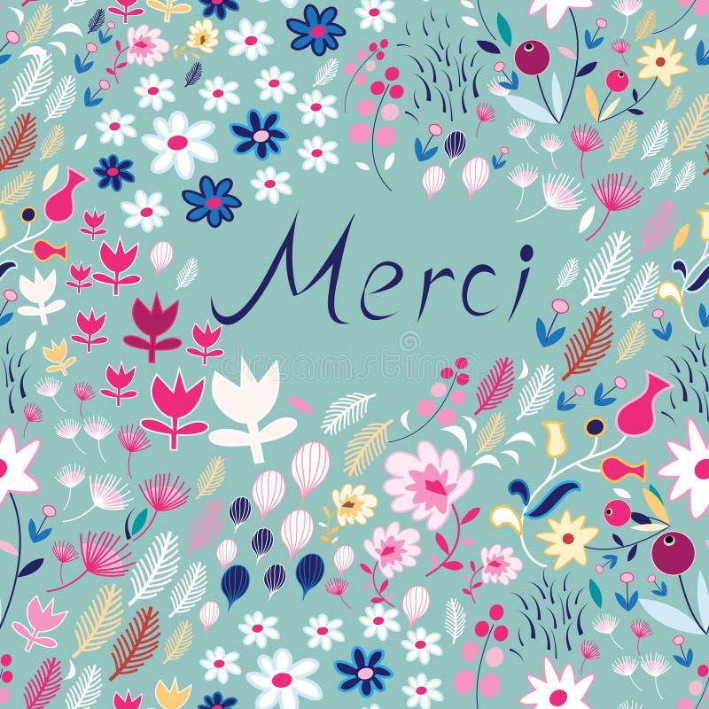 Estampado de flores con la inscripción libre illustration