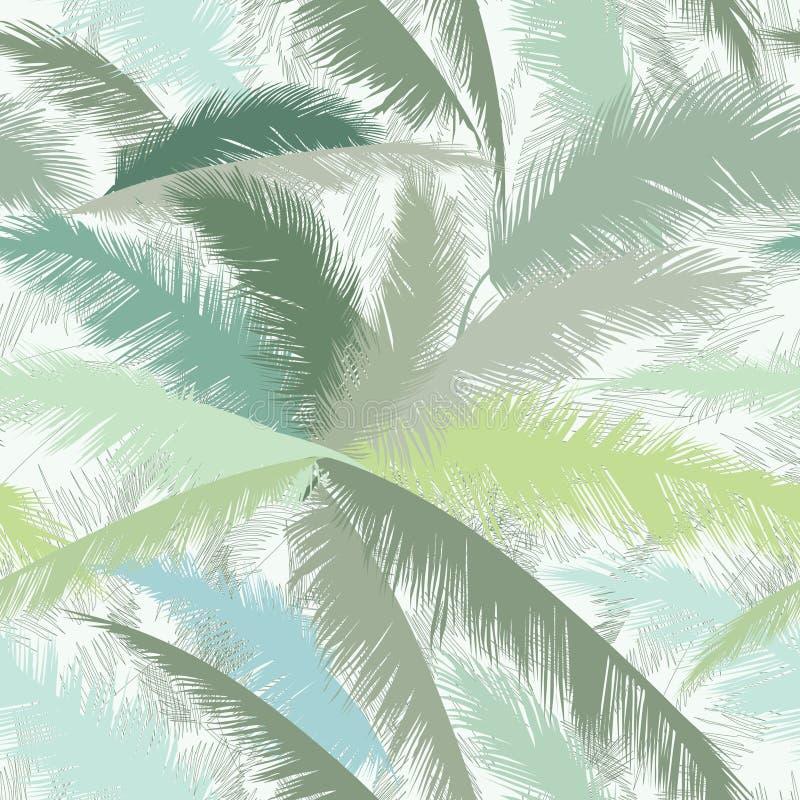 Estampado de flores con las hojas de la palmera Naturaleza Orn tropical del verano ilustración del vector