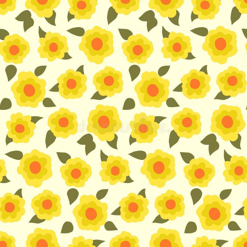Estampado de flores de Ditsy con los pequeños narcisos stock de ilustración